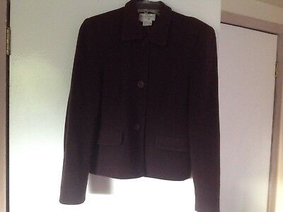 348e6cd1943 Women s S Helene Berman London Brown Lined Wool 3 Button Coat Blazer Jacket  NIce