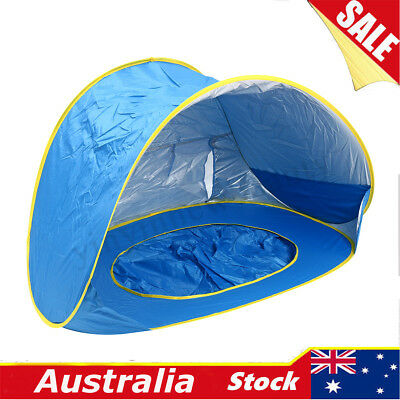 Baby Beach Tent with Sun Shade Portable Infant Pop Up Pool Canopy for Kids Tents  sc 1 st  PicClick AU & BABY BEACH TENT Pop Up Portable Shade Pool Protection Sun Shelter ...