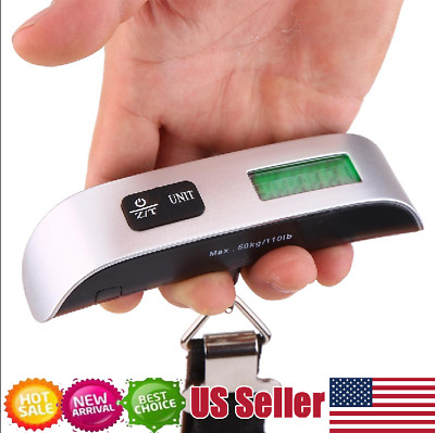Travel Portable Handheld Electronic LCD Digital Luggage Suitcase Bag Scale