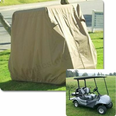 4 / 2 Passenger Golf Cart Cover Taupe For YAMAHA Club Car Eagle Taupe Storage