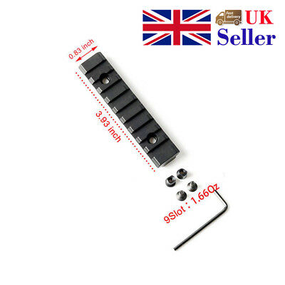 Keymod 9 Slot Rail Picatinny Mount Handguard Rail Section For Airsoft Black New