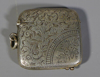 Antique Hallmarked Sterling Silver Novelty Vesta Case With Cheroot Cutter 1896