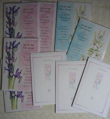 Job lot of 10 x sympathy cards suitable for market stall or car boot