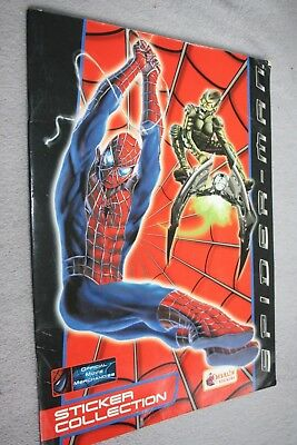 Album images Complet )) SPIDER-MAN 2002 SPIDERMAN STICKER COLLECTION