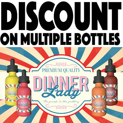 Dinner Lady E Liquid Vape Juice Lemon Tart Summer Holiday 50mI - ALL FLAVOURS