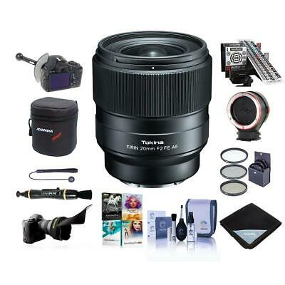 Tokina FiRIN 20mm F/2.0 FE Auto Focus Lens for Sony E Series W/Pro Acc Bundle