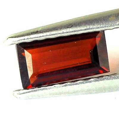 #0.37 cts. 6.1 x 3.1 mm. UNHEATED NATURAL RED ALMANDINE GARNET RECTANGLE AFRICA