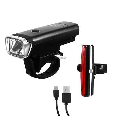 LED Rechargeable Bycicle Front Light Headlamp Headlight Bike Lamp Torch 01