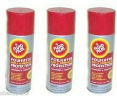 Fluid Film AS11 3 Pack 11.75 oz Aerosol Can Rust Preventative Protection Lube
