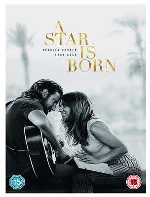 A Star Is Born - Lady GaGa/Bradley Cooper UK DVD Region 2 Stock 2019