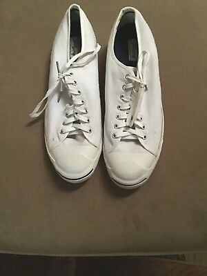 Vintage Men's Jack Purcell White Converse Low Top Sneakers Size 15 Medium Aq698