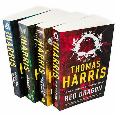 Hannibal Series Thomas Harris 4 Book Collection Red Dragon, Silence Of The Lambs