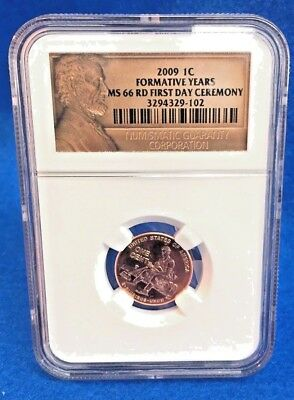 2009-P Lincoln Cent NGC MS66RD 1st Day Ceremony - Formative Years