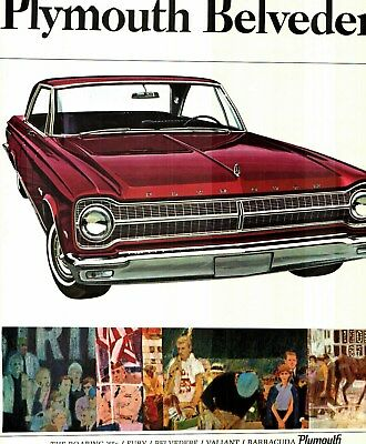 1965 Plymouth Belvedere & Satellite Deluxe Color Sales Catalog