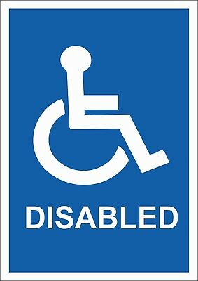 Disabled Toilet/ Disabled Sign   A5/a4 Sticker Or Foamex Sign