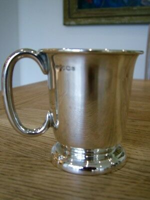 Antique Solid English Silver Christening Tankard Cup Mug Hm1958 Emile Viners Nr