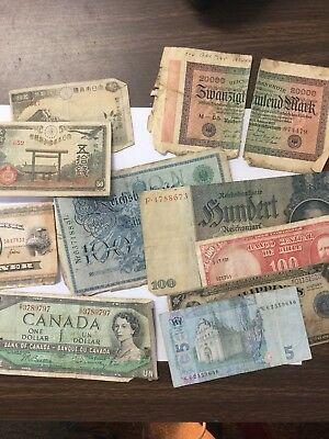 Lot Of Twenty Seven(27) Vintage Foreign Circulated Bank Notes Multiple Countries