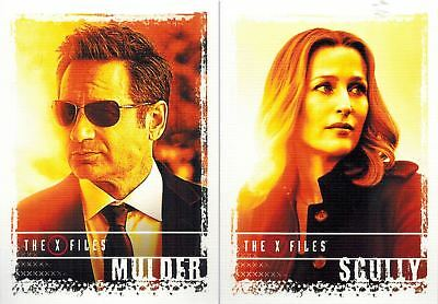 X-Files Seasons 10- 11: Stars of The X-Files: Lot of 3 Cards # 1-2-8
