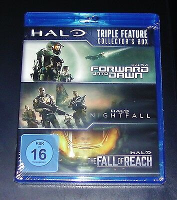 Halo Triple Feature Collector´S Box 3 Blu-Ray Set Faster Shipping New Ovp