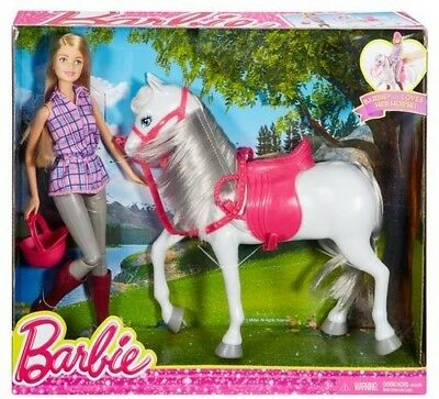 Doll And Horse - Barbie (Toy Used)