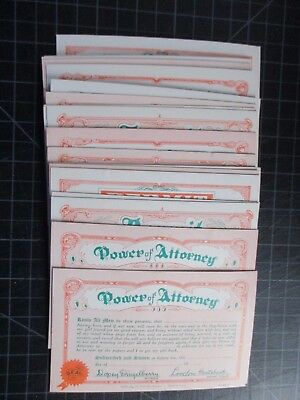 Lot Of 19 Vintage Comic Certificate Permit Power Of Atty Arcade Cards 1941