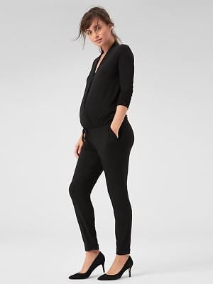 CLEARANCE! New Gap Maternity Black Long Sleeve Wrap Jumpsuit Large NWT