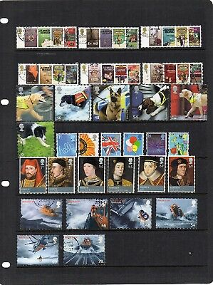G.B. - Used Commemoratives from the year 2008  x 79 - all different