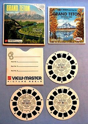 Viewmaster Reels - Grand Teton National Park - Set & Booklet In Very Good Cond.
