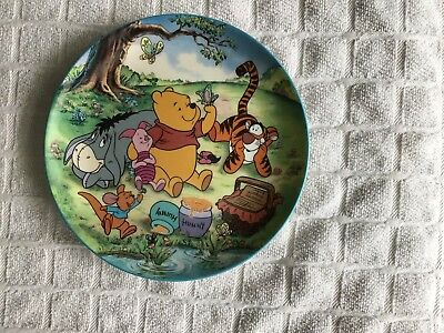 "Winnie The Pooh "" Unbothered Times "" Plate. 4th In Series"