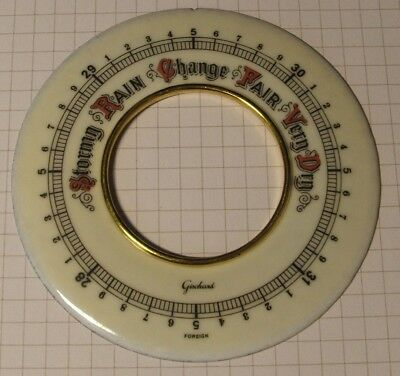 Barometer Parts Spares - Scale Plate - Enamel - Free Postage