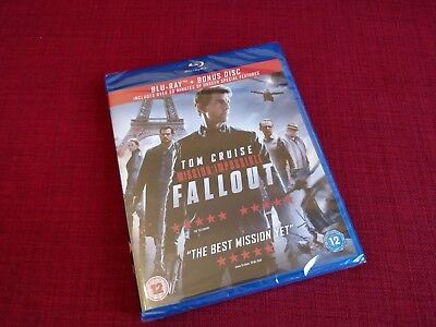 Mission: Impossible - Fallout (Includes Bonus Disc) [Blu-ray] New & Sealed