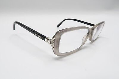 7fcfc869f5 Auth BVLGARI 4064 Rx Eyeglasses Frames 5235 Black Gray 54  16-135 Jewels