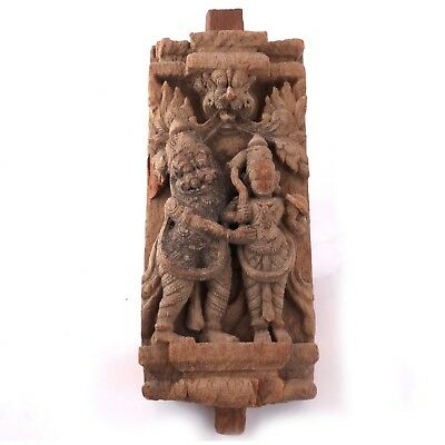 South Indian Carved Wood Fragment