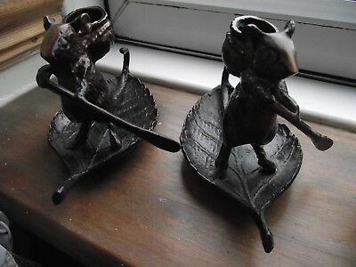 Metal Rowing Mice Candle Holder/candle Holders/decorative/metalware/collectables
