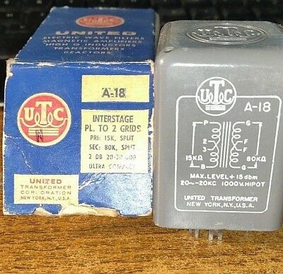 Utc A-18 Nos Vintage Audio Interstage Transformer