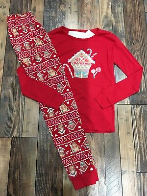 b513c4063 GYMBOREE RED COZY Penguin Holiday Two-piece PJs Girls Nwt Red ...