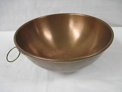 """Vintage Douro B&M Copper 9"""" Mixing Bowl with Brass Ring for Hanging"""