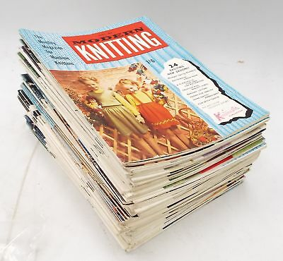72 x MODERN KNITTING Magazines Published Between 1956 to 1962 KNITMASTER - B87