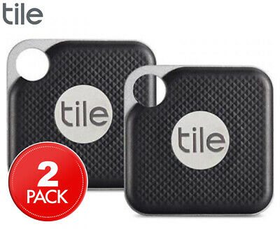 Tile Pro Bluetooth Tracker 2-Pack - Jet Black/Graphite