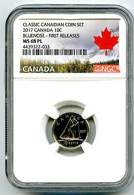 2017 Canada 10 Cent Classic Dime Ngc Ms68 Pl Proof Like First Releases Rare