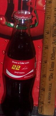 2018 Coca  Cola Share A Coke With Joey Logano  #22  8Oz Glass Coca Cola Bottle