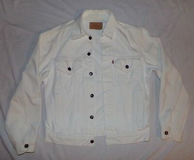 Vintage White Levis Denim Jacket 26 00 Picclick