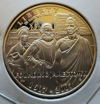 .7736 oz Proof  Liberty Founding Jamestown Solid Silver Coin