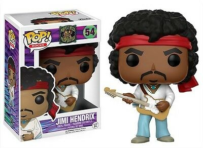"FUNKO POP ROCKS 2017 JIMI HENDRIX #54 Vinyl 3 3/4"" Figure MIMB IN STOCK"