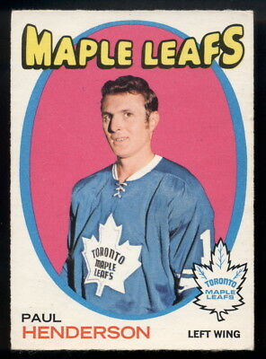 1971-72 Opc O Pee Chee Hockey #67 Paul Henderson Ex-Nm Toronto Maple Leafs Card