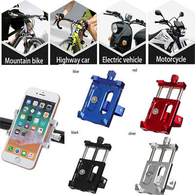 Motorcycle Anti-Slip Phone Holder Handlebar Clip Adjustable Phone GPS Stand B