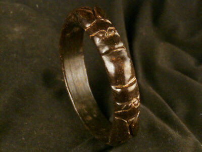 Excellent Chinese Jade Hand Carved *2Dragons* Bangle Bracelet C119