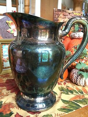 ONEIDA USA Vintage Silverplate Pitcher w Ice Lip OL 9 Inch