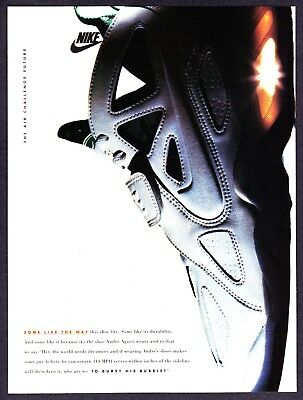1993 NIKE Air Challenge Future Andre Agassi wears Shoe photo vintage print ad