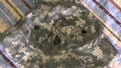 US Military Issue Army Combat Uniform ACU Camouflage Boonie Hat Cap Size 7 1/2
